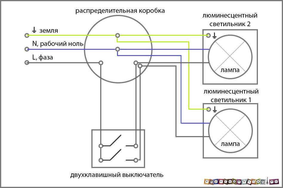 Схема подключения двух групп
