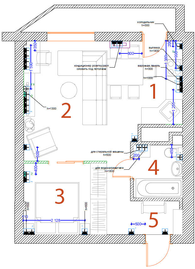 Как сделать розетки в комнатах 941