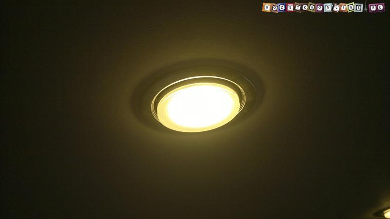 Пример установки точечного светильника в гипсокартон