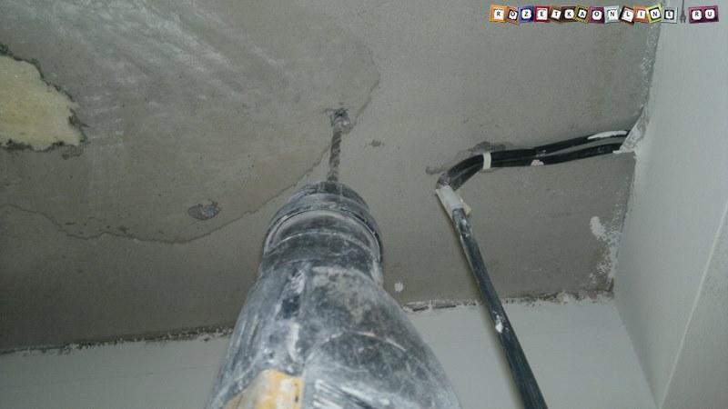 Монтаж отверстий в потолке под трансформатор для светодиодной ленты