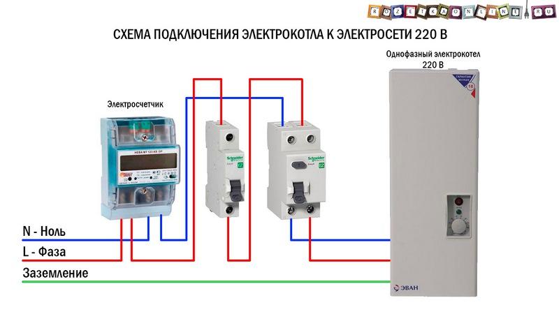 подключение к электрической сети электрического нагревателя воды