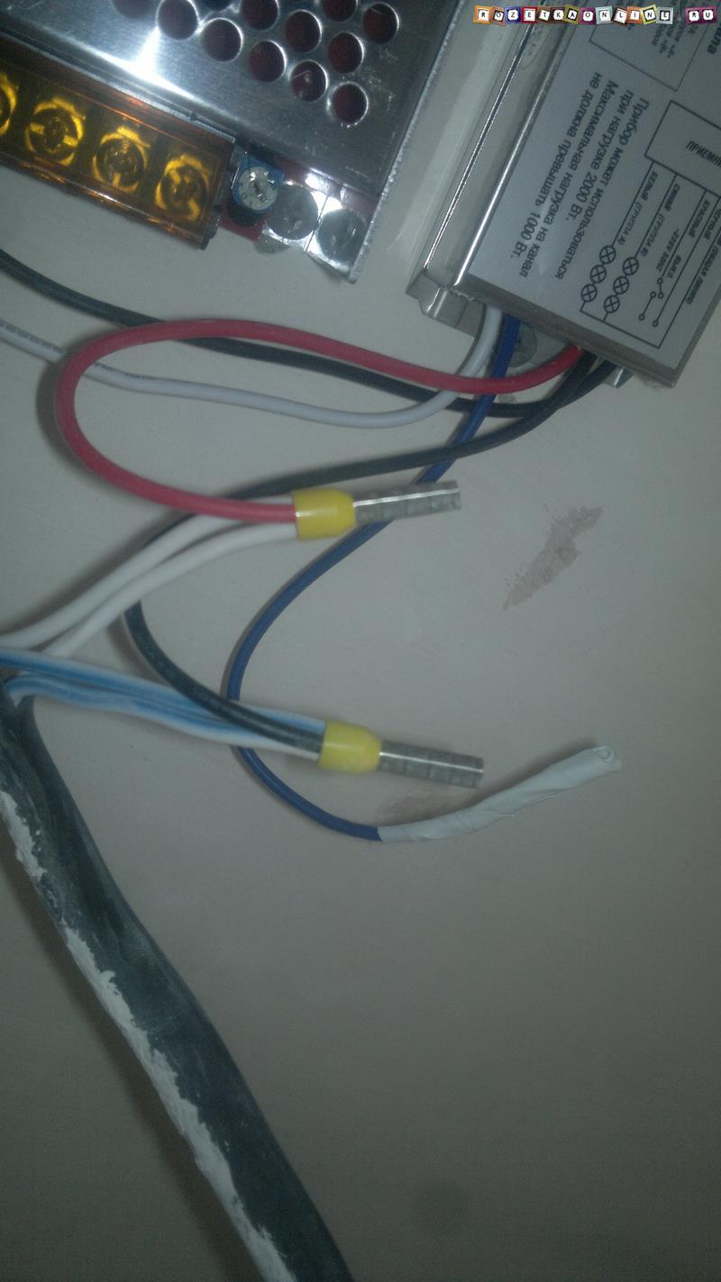 Подготовка проводов к монтажу управления освещением с пульта