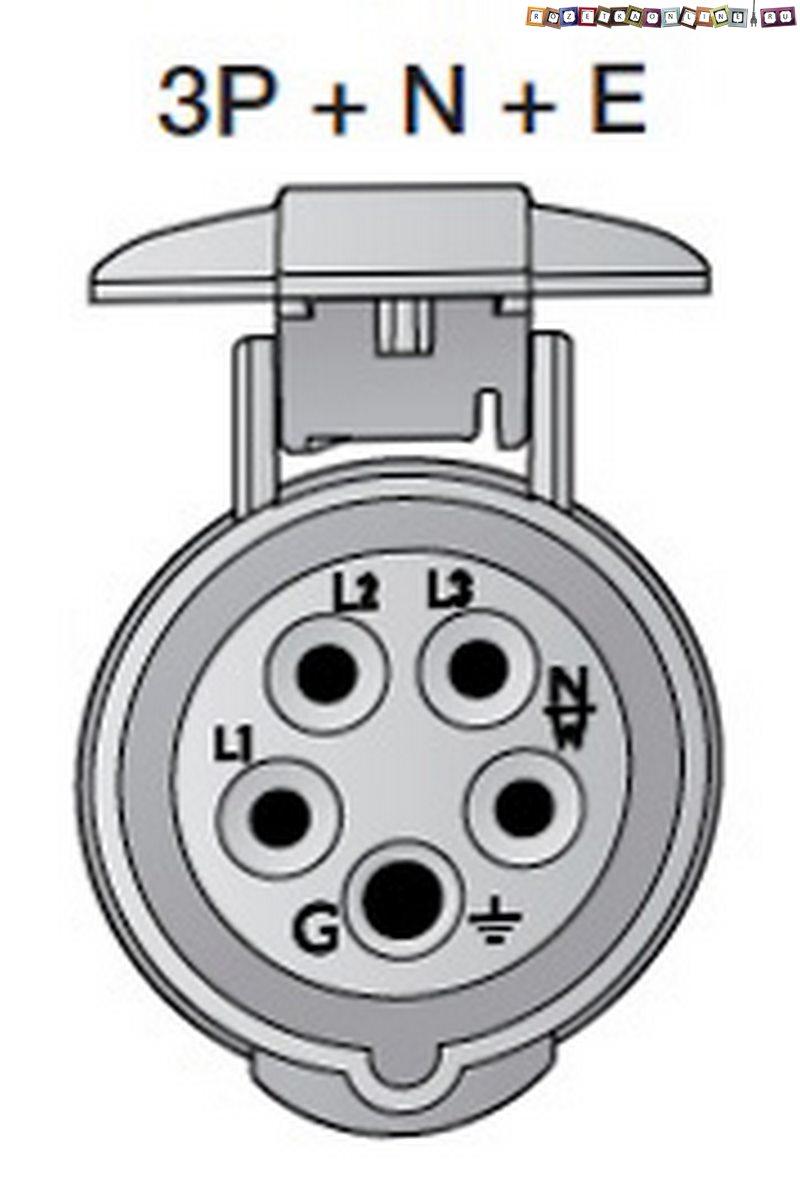 схема трех фазной електропроводки