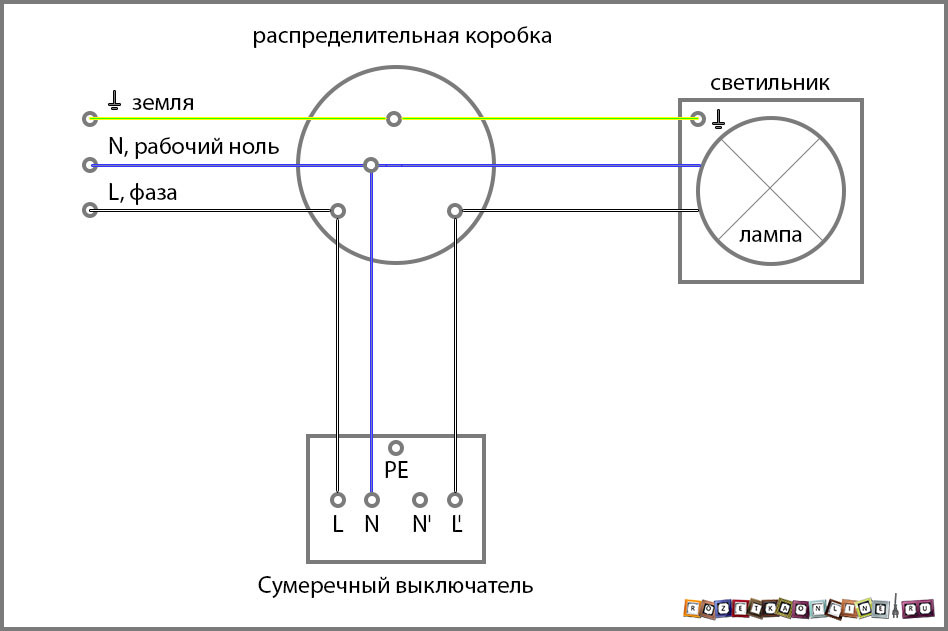 Схема на датчик света