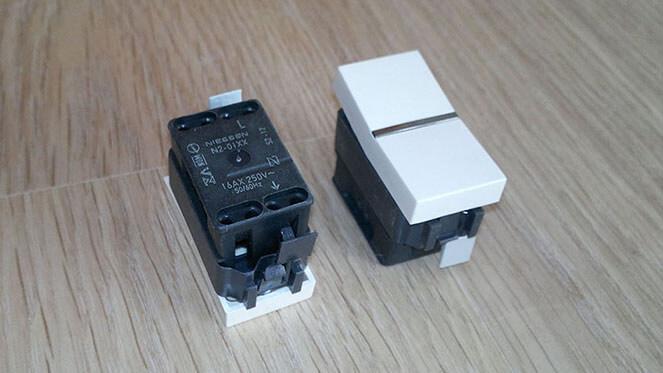 Двойной выключатель ABB Zenit - как пример подключения
