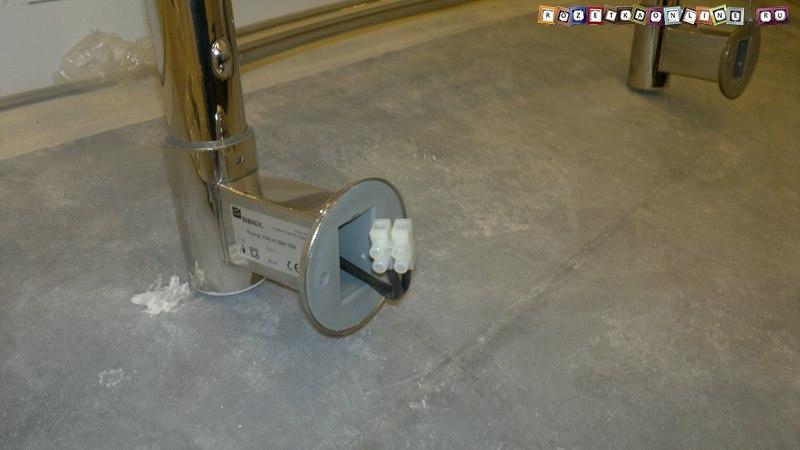 Установка электрического полотенцесушителя, Своими руками
