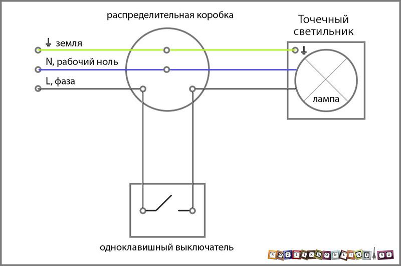 Схема светильника без стартера