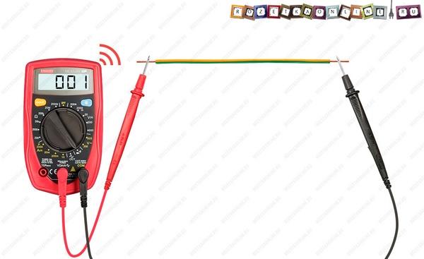 Что показывает мультиметр при прозвонке провода