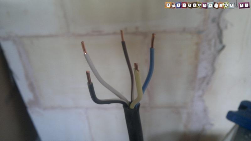 Кабель ВВГнг 5х4 для подключения электрической варочной панели